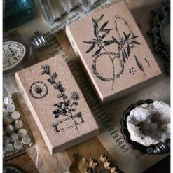 LCN Design Rubber Stamps - Dried Flower, set D