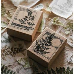 LCN Design Rubber Stamps - Fern Postage Stamp-set B