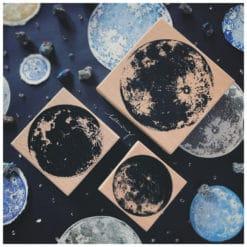 LCN Design Rubber Stamps - Lunar Stamp Set Small