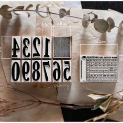 LCN Design Rubber Stamps - Ticket stamp set D