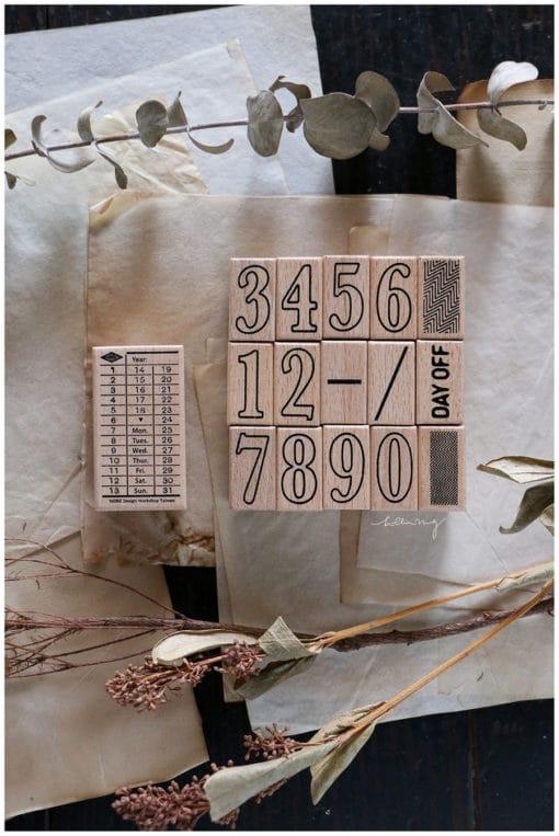 LCN Design Rubber Stamps - Ticket stamp set C