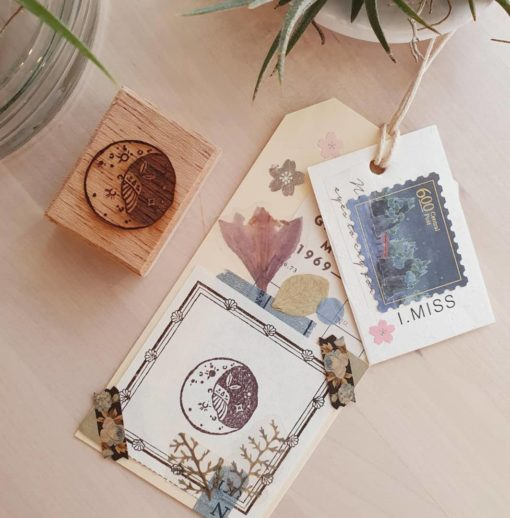 Elsie with Love Rubber Stamp - Moon Series no. 1