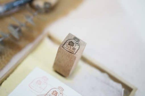 Black Milk Project Rubber Stamps - Mini jar flower