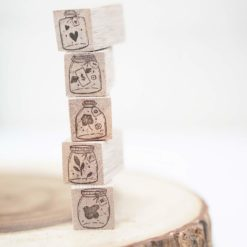 Black Milk Project Rubber Stamps - Mini Jars Collection