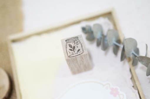 Black Milk Project Rubber Stamps - Mini jar leaf