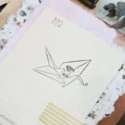 Black Milk Project Rubber Stamps - Paper Crane