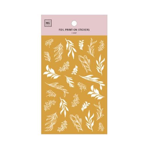 MU Print-On Foil Stickers - Foliage