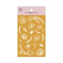MU Print-On Foil Stickers - Dahlias