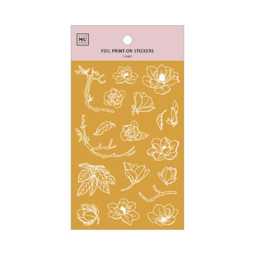 MU Print-On Foil Stickers - Magnolias