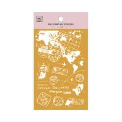 MU Print-On Foil Stickers - Travel the World