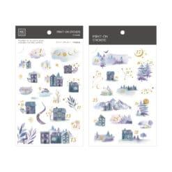MU Print-On Stickers - Winter Numbers