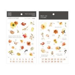 MU Print-On Stickers - Flowers Numbers
