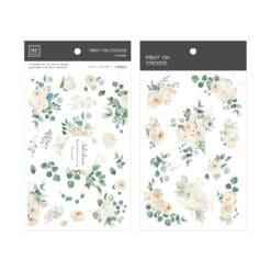 MU Print-On Stickers - White Roses