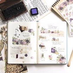 MU Print-On Stickers - Purple Blooms
