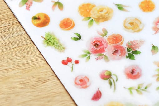 MU Print-On Stickers - Fruits & Flowers
