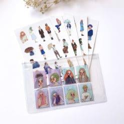 La Dolce Vita Sticker set with zip pouch