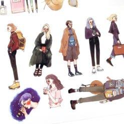 La Dolce Vita Print-on Stickers - Bon Voyage