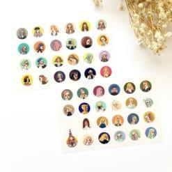 La Dolce Vita Print-on Stickers - Girls in Circles