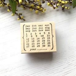 Catslife Press Rubber Stamp - Perpetual Calendar Style B