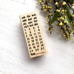 Catslife Press Rubber Stamp - Perpetual Calendar Style D