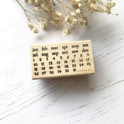 Catslife Press Rubber Stamp - Perpetual Calendar Style A