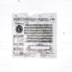 Music Manuscript Clear Stamp