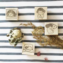 Kami Kami Chop Rubber Stamps - Goodnight Series