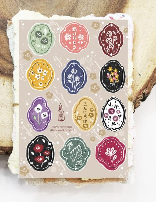Black Milk Project Stickers - Floral Seals