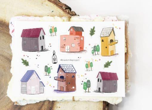 Black Milk Project Stickers - Mini Houses