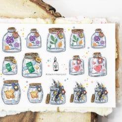 Black Milk Project Stickers - Mini Jars