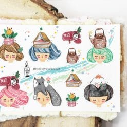 Black Milk Project Stickers - On My Head
