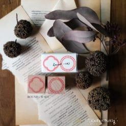 Kurukynki Rubber Stamps - Round Frame Set B