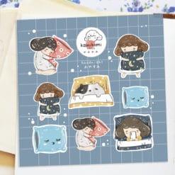 Kami Kami Chop Stickers - Goodnight Sticker Sheet