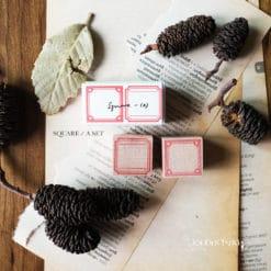Kurukynki Rubber Stamps - Square Frame Set A