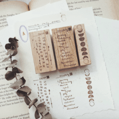 Kurukynki Rubber Stamps - Monthly, Daily, Moon Set