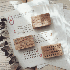 Kurukynki Rubber Stamps - Weekly, Yearly, Moon Phase