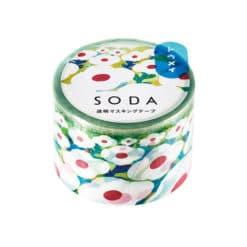 SODA Transparent Masking Tape - Flower Garden