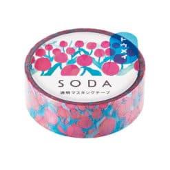 SODA Transparent Masking Tape - Tulips