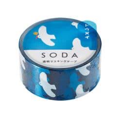 SODA Transparent Masking Tape - Blue Sky