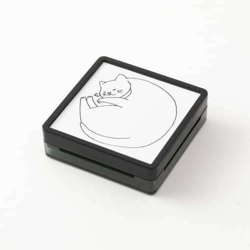 Midori Paintable Stamp Pre-inked Cat