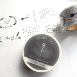 OEDA Letterpress Washi Tape - Thank You