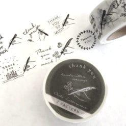 OEDA Letterpress Washi Tape - Hand Thank You