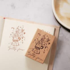 Meow Illustration Beechwood Stamp - Mocha Pot