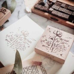 Meow Illustration Botanic Stamp - Feel the Flower Sing