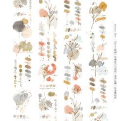Meow Illustration Washi Tape - Rosewood