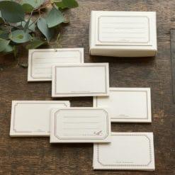 OEDA Letterpress Card box - Bronze (30 pieces)