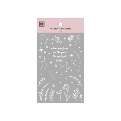 MU Print-On Foil Stickers – Stars