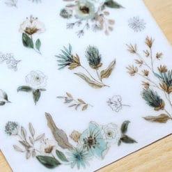 MU Print-On Stickers – Live like Flowers in Green