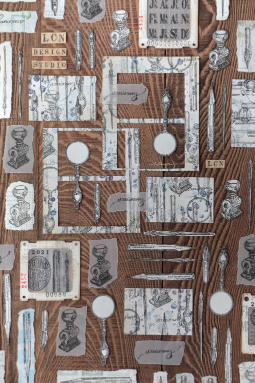 LCN Design Rubber Stamp Set - Stationery Vol.3