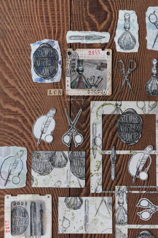 LCN Design Rubber Stamp Set - Stationery Vol.2